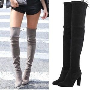 Faux Suede OKT Boots in Black